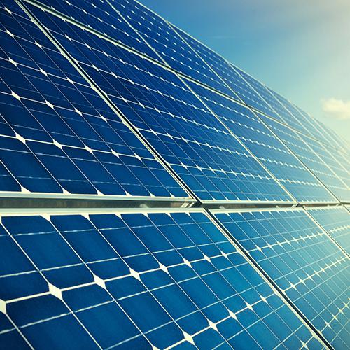 Blue solar panels; Shutterstock ID 248741149